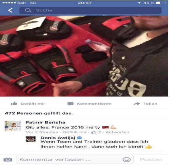 """""""50 milionëshi"""" është gati për Shqipërinë (Foto) Talenti Donis Avdijaj ka shprehur haptas dëshirën që t'i bashkohet Kombëtares Shqiptare në evropianin që në vitin 2016 mbahet në Francë. Anëtari i Schalkes që ka një klauzolë prej 50 milionë euro, e që është në huazim në Austri te Sturm Graz, nëpërmjet llogarisë së tij në Facebook, ka gatishmërinë t'i bashkohet Shqipërisë, nëse i kërkohet një gjë e tillë. """"Nëse beson ekipi dhe trajneri që unë mund të ndihmoj, unë jam i gatshëm"""", ka shkruar Avdijaj./Indeksonline/"""
