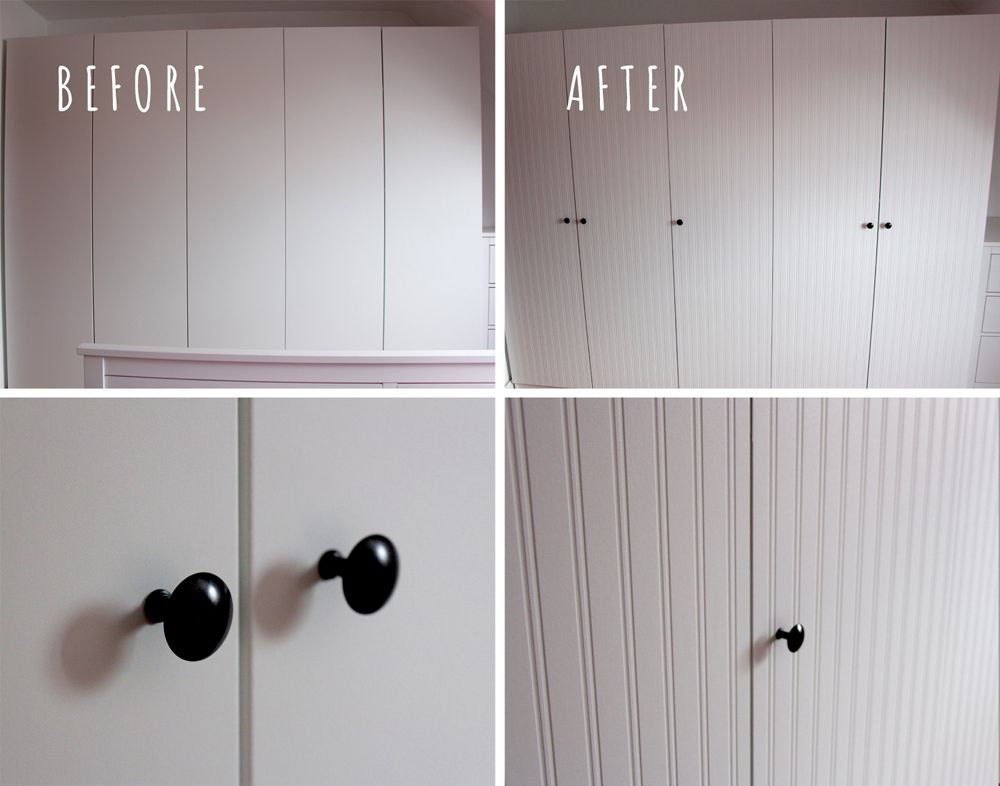 Ikea Unterschrank Schubladen ~ PAX Wardrobe  Closet Makeover with Beadboard Wallpaper  IKEA Hackers