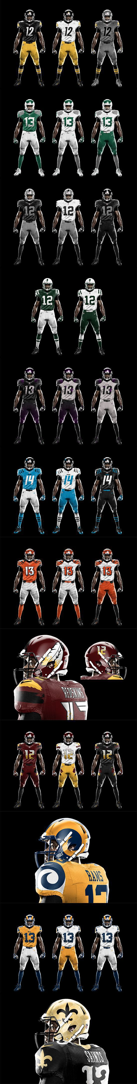 602958dd57e The difference between these and the many other NFL uniform redesign  concepts is that these are actually dope. Well done, Jesse Alkire.