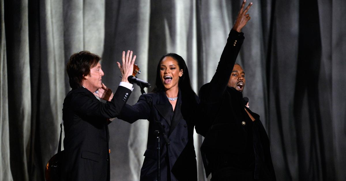 Rihanna and Kanye's Bouncy Grammy Performance of ... Rihanna
