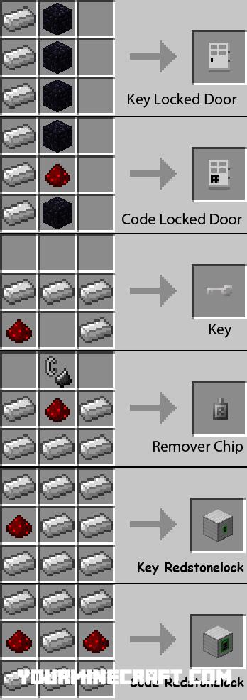как сделать код на дверь в майнкрафте 1.7.2.