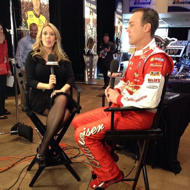 nicole briscoe takes this interview opportunity with kevin harvick