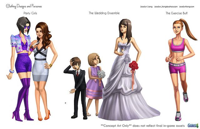 The Sims 4: Concept Art By Jocelyn Liang - SimsVIP