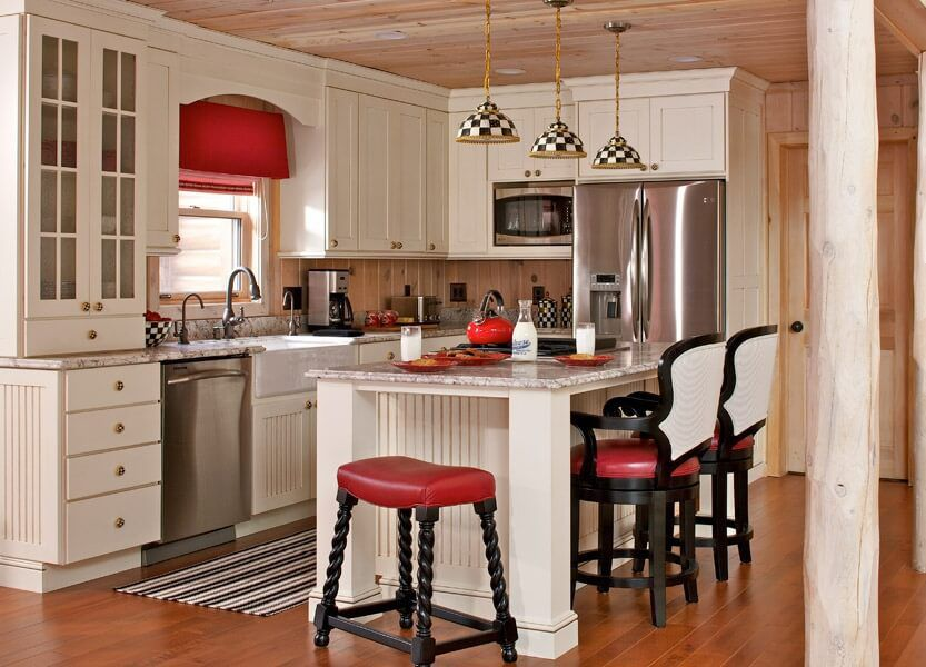 7 ways to decorate your kitchen with checkered pattern for Ways to decorate kitchen