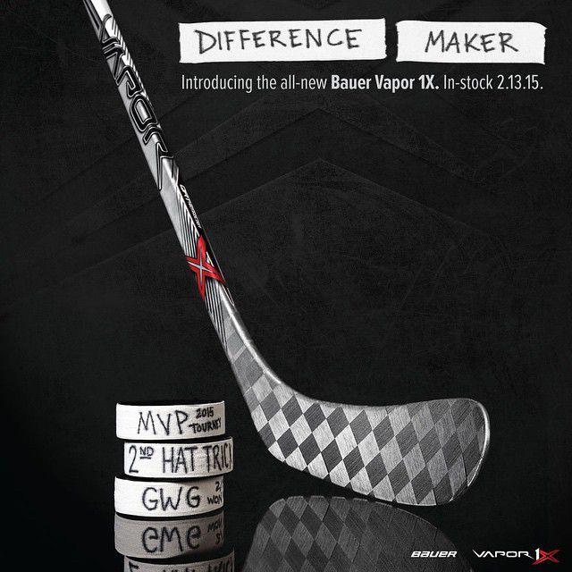 Be a difference maker get the bauer vapor 1x stick at for Be a maker