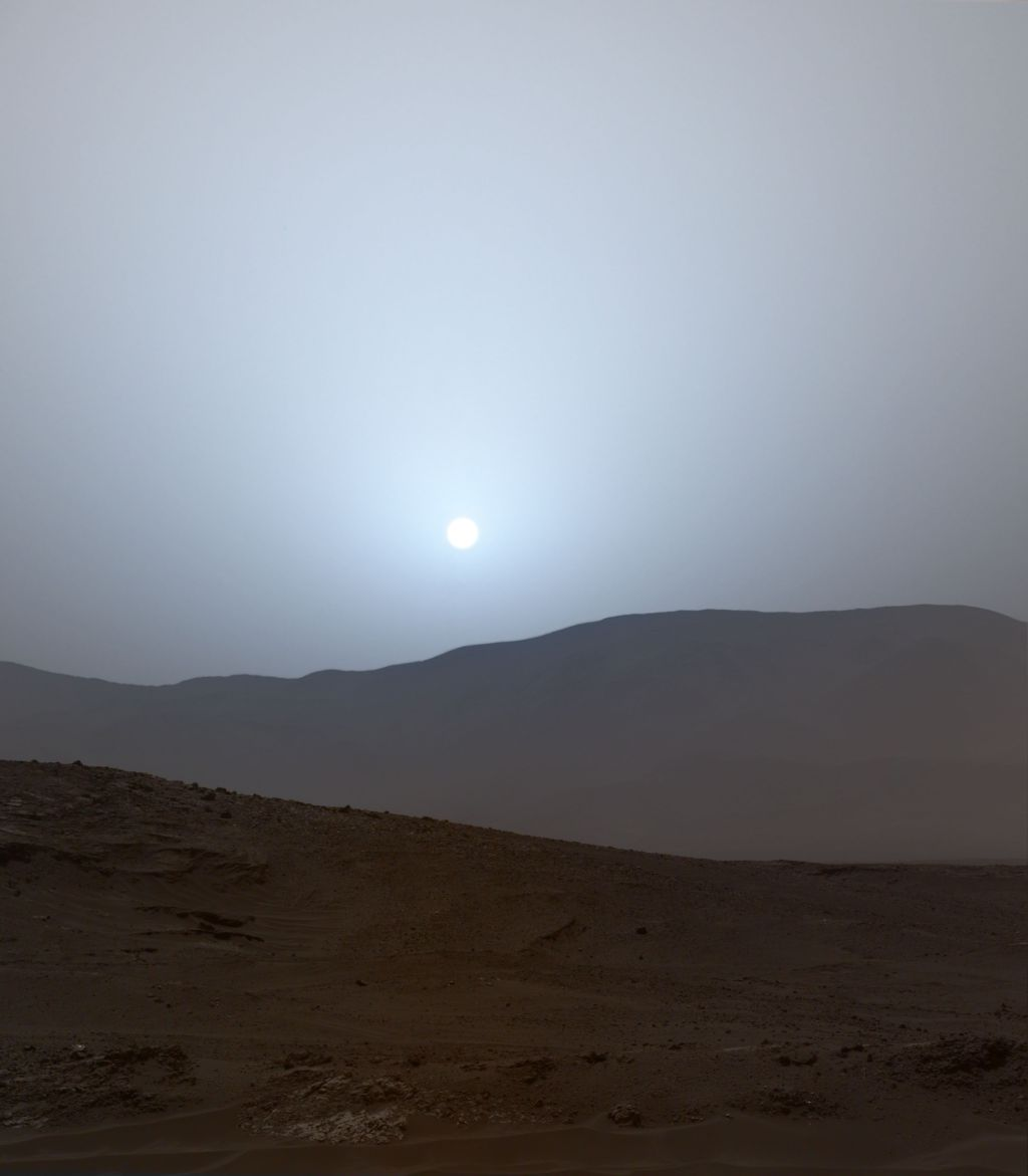 A sunset on mars crafting a scene from archival data - Mars sunset wallpaper ...
