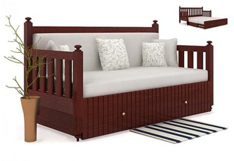 sofa cum bed buy wooden sofa cum beds online in india. Black Bedroom Furniture Sets. Home Design Ideas