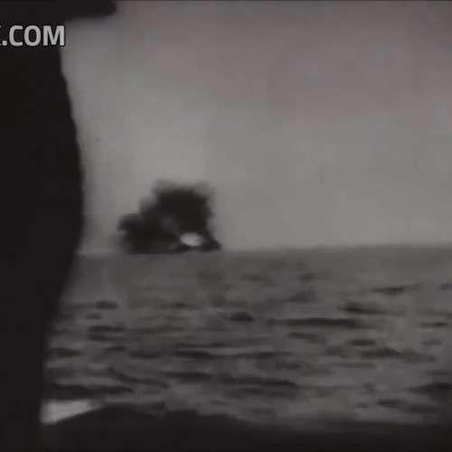 Kamikaze Attacks US Navy Destroyer WW2 Naval Combat Action