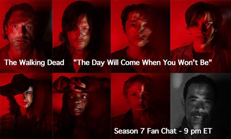 Eeeny, meeny, miney, moe: The Walking Dead Fan Chat 9:00 pm et