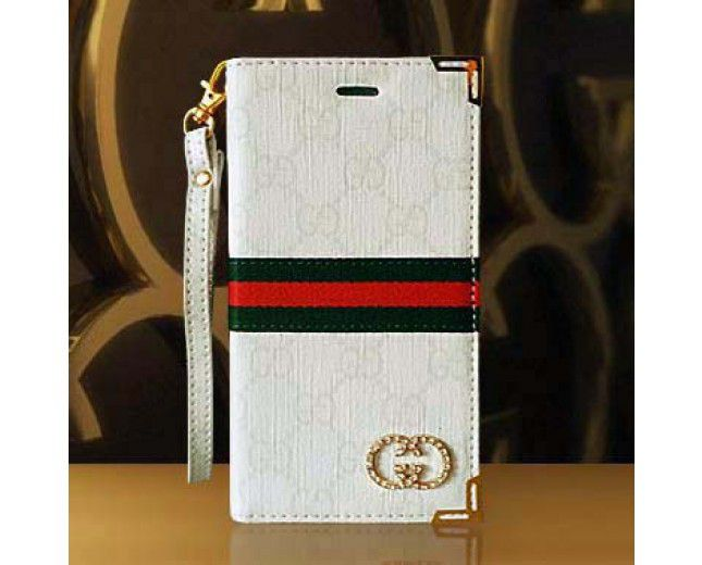 Gucci iPhone 6 Plus Case Designer Wallet Book Cover White Crystal logo -  Gucci iPhone 6 Plus ... 7206a79269