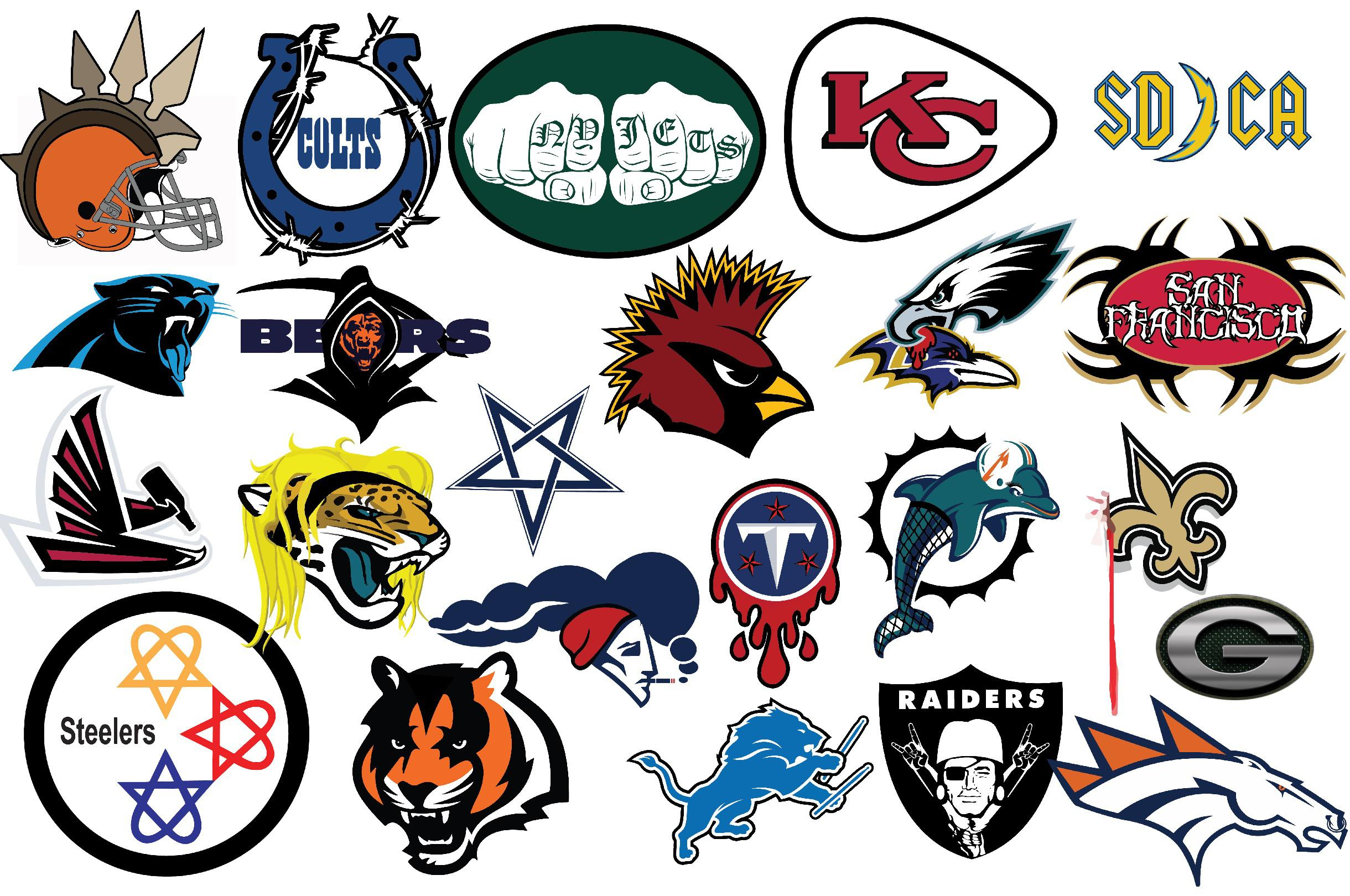 All Nfl Teams Logos Redesigned As Metal Bands