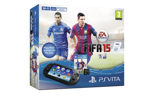 FIFA 15 PS Vita Bundle With 4GB Memory Card Available For
