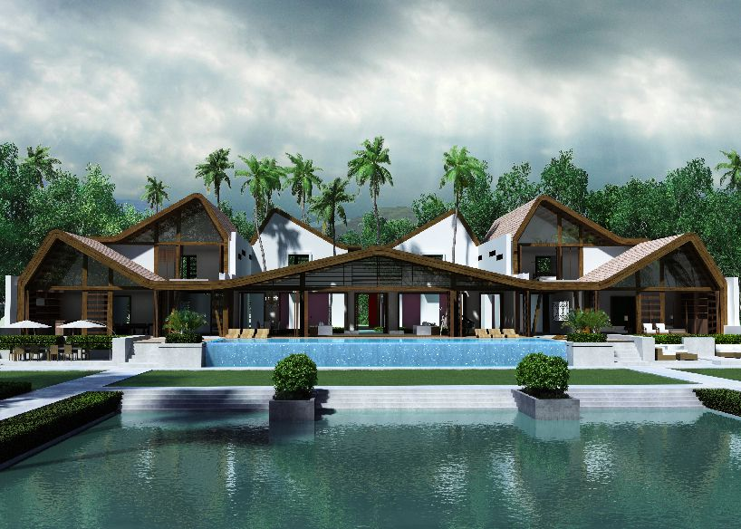 Map covers tropical bungalow with dancing roof terrace in for Terrace 6 indore address