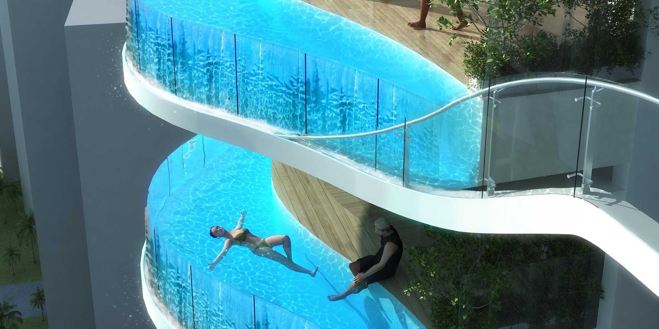 A luxury condo in india will have a private swimming pool - Swimming pool construction in india ...