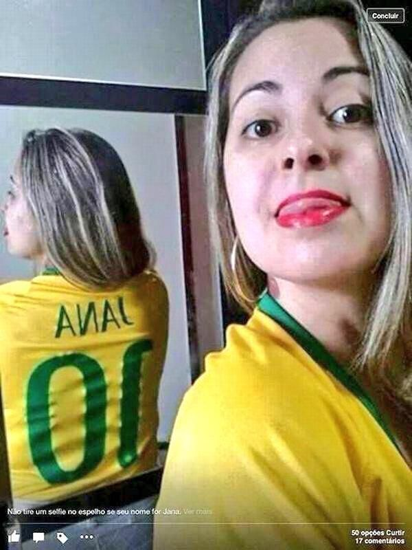 Brazil Fans Selfie Fail Looks Like She Loves Anal Photo-4025