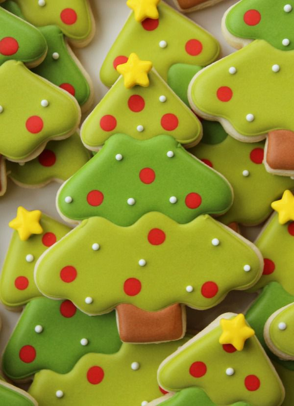 Trim the Tree With Treats: Decorated Christmas Tree Cookies