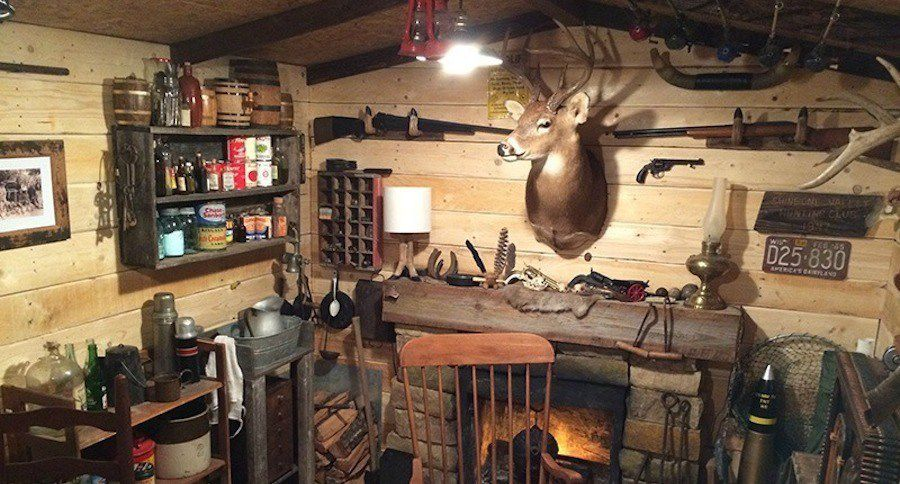 Basement Man Cave Cabin For 100 Wide Open Spaces