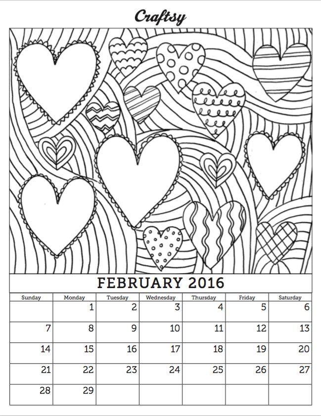 coloring calendars sector pages - photo#37