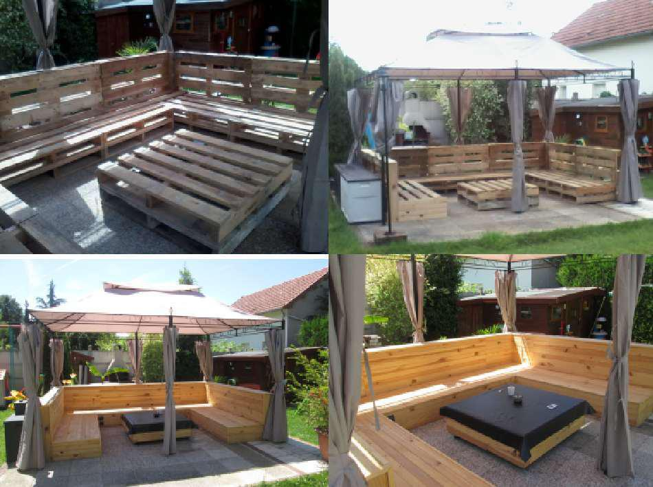 Mon Salon De Jardin My Pallet Garden Set 1001 Pallets