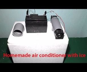 Homemade Air Conditioner with Ice Mini USB Fridge Frefrigerator